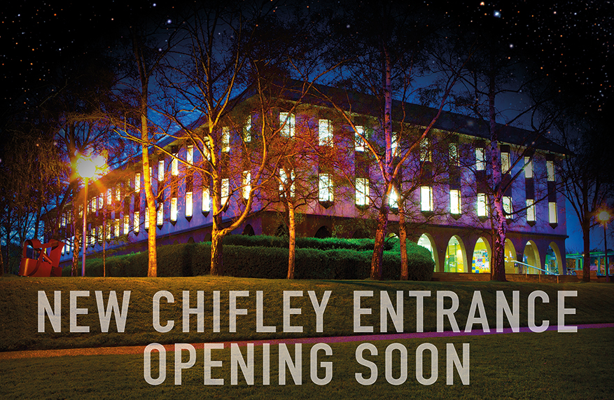 New Chifley entrance - opening soon