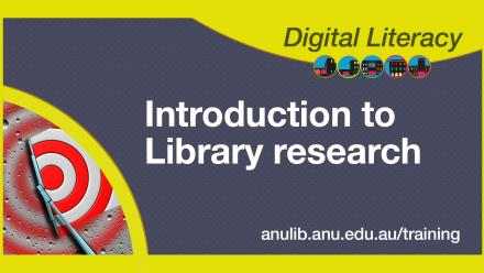 Digital Literacy Training: Library research