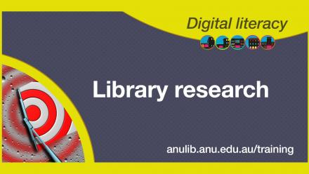 Digital literacy training - Library research