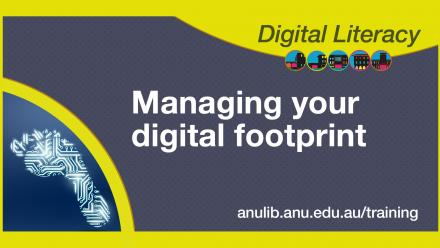 Digital literacy training - Managing your digital footprint