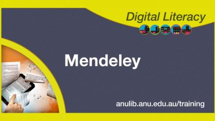 Digital literacy training - Mendeley