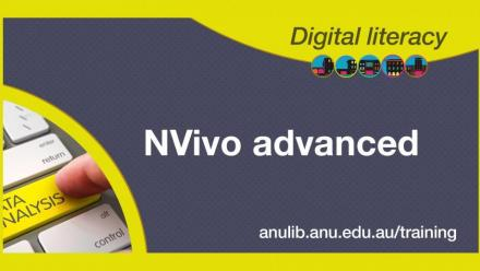 Digital literacy training - NVivo advanced