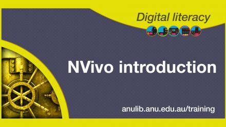 Digital literacy training - NVivo introduction