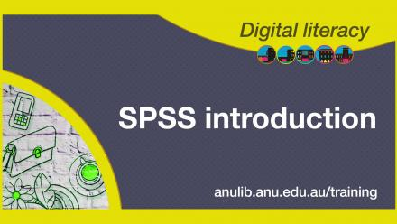 Digital literacy training - SPSS introduction
