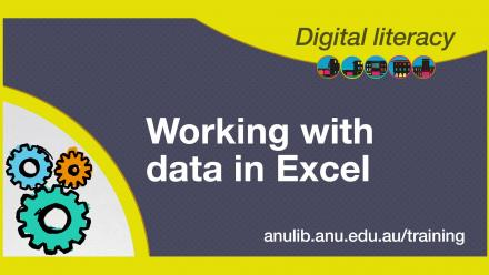 Digital literacy training - working with data in Excel
