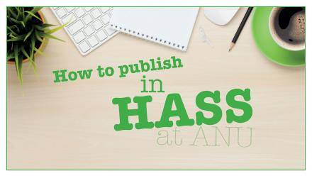 How to publish in HASS at ANU