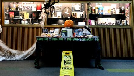 JB Chifley Library Halloween display