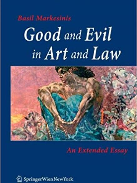 book cover: Good and evil in art and law
