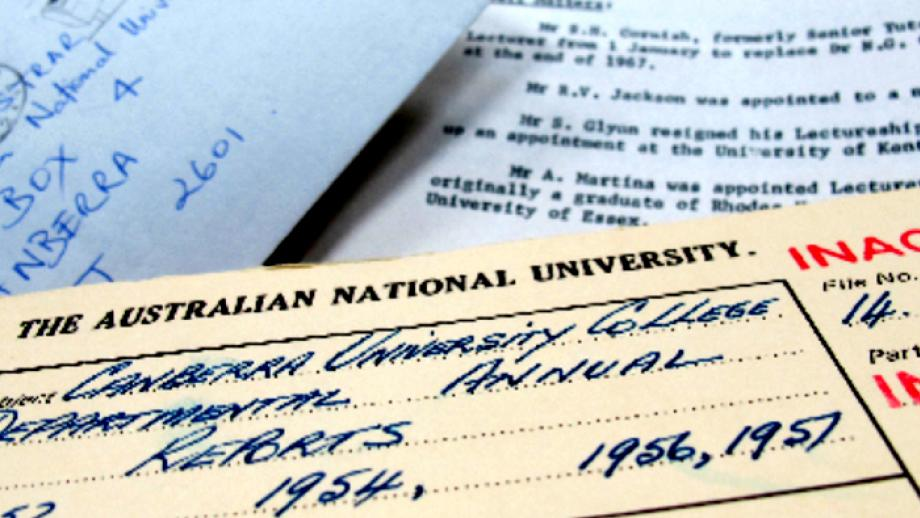 collection of annual reports from ANU and Canberra University College (CUC) from 1952 to 1998