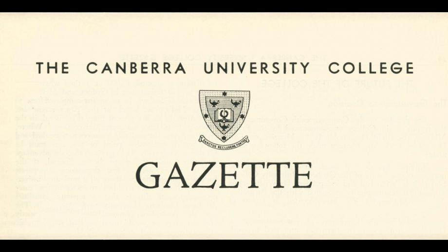 Canberra University College Gazette