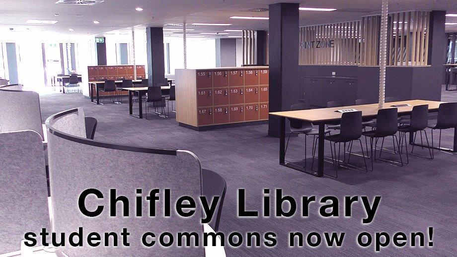 Chifley Library student commons now open