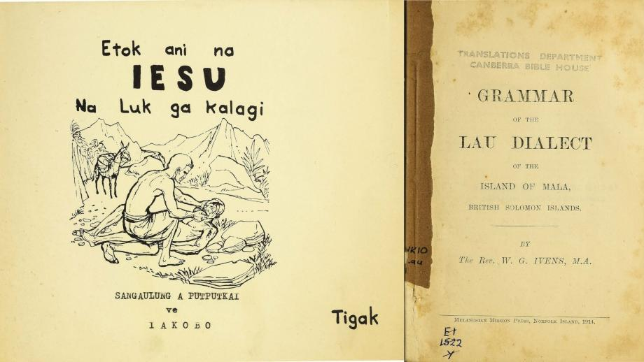 Pacific Linguistics Project: Pacific language bibles and supporting grammars