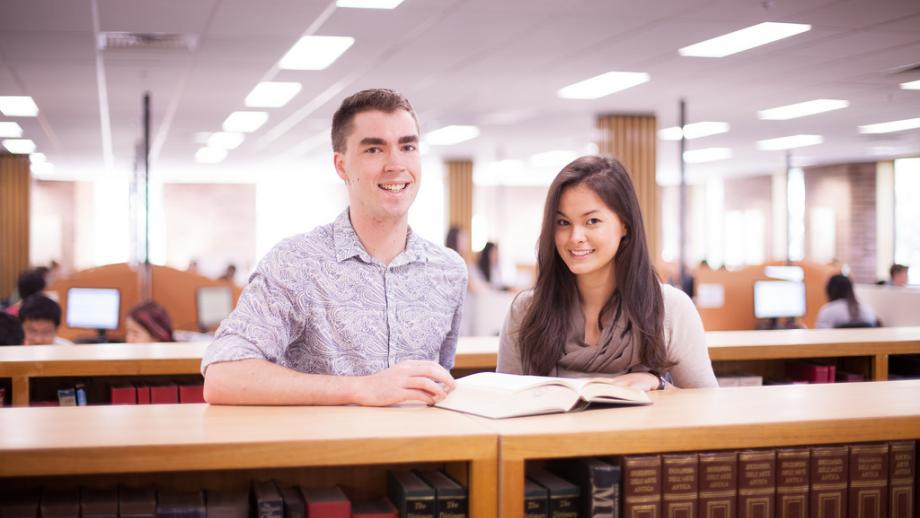 Students in the ANU Library