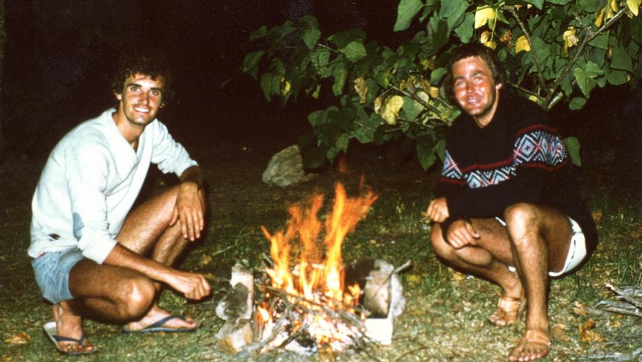 Ian Brunskill on the right, with fellow Alumni Bruce Stillman, on a camping trip near Nelson Bay in late 1977.   Bruce Stillman received his PhD from the John Curtain School of Medical Research in 1979. He has lived in the United States since graduating,