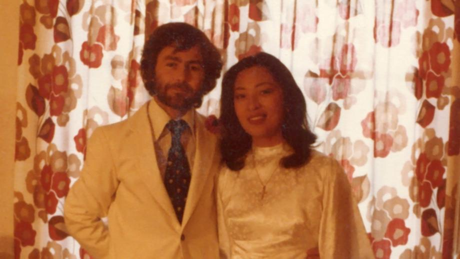 Ian Brunskill and wife Marian in their Geneva apartment, shortly after getting married in November 1979.