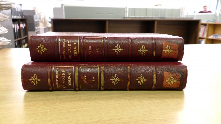 photo of two books which were returned ot the library after 11 years