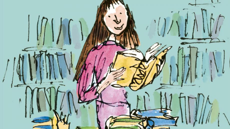 Illustration of Matilda at 30 by Quentin Blake