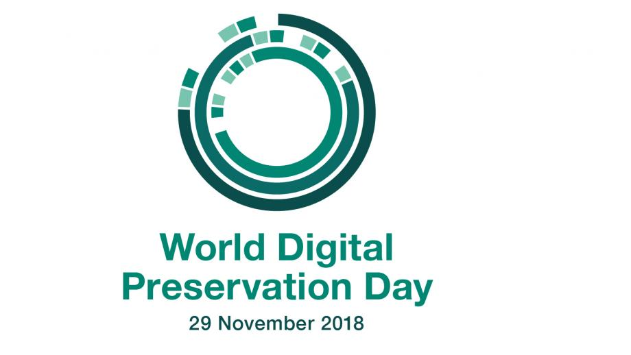 World digital preservation day logo -  29 November 2018