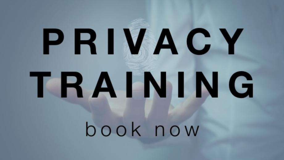 privacy training - book now